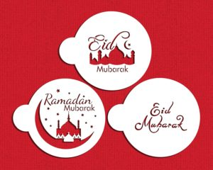 Eid,Ramadan,moubarak,stencil set,cupcake,cookies