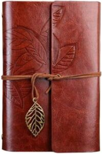brown,leather,retro,vintage,notebook,notepad,leaf motif,Eid,Gift,Eid Al Adha,Dubai,UAE,2020